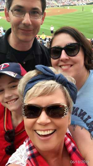 Team Graves attended Minnesota Twins vs. Boston Red Sox - MLB on Jun 18th 2019 via VetTix