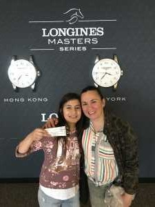catherine attended Longines Masters New York - Horse Racing/speed Challenge - Session 1 on Apr 26th 2019 via VetTix