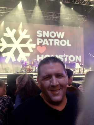 Erich attended Snow Patrol - Alternative Rock on Apr 21st 2019 via VetTix