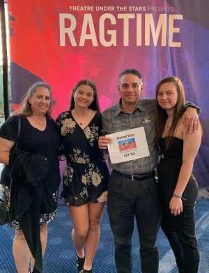 Erik Hayes attended Ragtime Performed by Theatre Under the Stars - Sunday Evening on Apr 21st 2019 via VetTix