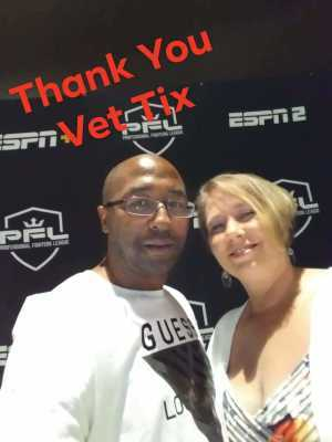 Gina attended Professional Fighters League MMA - Tracking Attendance - Live Mixed Martial Arts on Jul 11th 2019 via VetTix