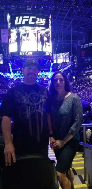 Billy attended UFC 236 - Mixed Martial Arts on Apr 13th 2019 via VetTix