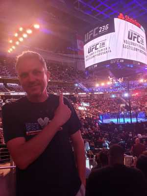 Charles attended UFC 236 - Mixed Martial Arts on Apr 13th 2019 via VetTix