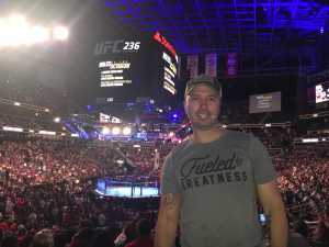 Mitchell attended UFC 236 - Mixed Martial Arts on Apr 13th 2019 via VetTix