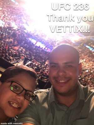 Joel attended UFC 236 - Mixed Martial Arts on Apr 13th 2019 via VetTix