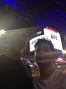Darlene attended UFC 236 - Mixed Martial Arts on Apr 13th 2019 via VetTix