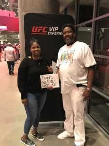 anthony attended UFC 236 - Mixed Martial Arts on Apr 13th 2019 via VetTix