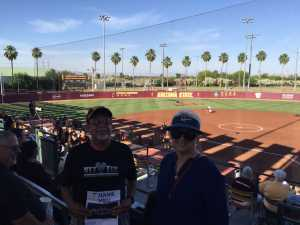 Matt attended Honor Row - Arizona State University vs. Cal - NCAA Women's Softball on May 3rd 2019 via VetTix