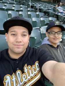Alexander  attended Oakland Athletics vs. Texas Rangers - MLB on Apr 22nd 2019 via VetTix