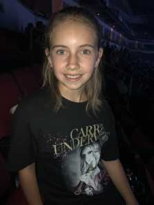 James attended Carrie Underwood: the Cry Pretty Tour 360 - Standing Room Only on May 12th 2019 via VetTix