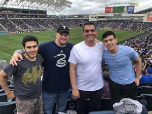 Jesse K attended Philadelphia Union vs Montreal Impact - MLS on Apr 20th 2019 via VetTix