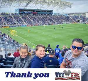 Benjamin attended Philadelphia Union vs Montreal Impact - MLS on Apr 20th 2019 via VetTix