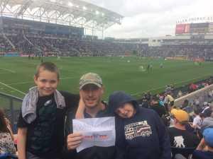Dave attended Philadelphia Union vs Montreal Impact - MLS on Apr 20th 2019 via VetTix