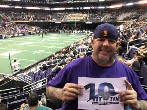 David attended Arizona Rattlers vs. Nebraska Danger - IFL on May 4th 2019 via VetTix