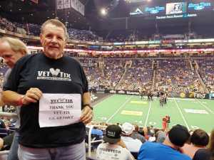 Donald attended Arizona Rattlers vs. San Diego Strike Force - IFL on Jun 15th 2019 via VetTix