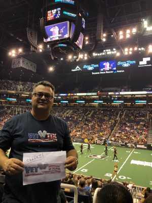 Willis attended Arizona Rattlers vs. San Diego Strike Force - IFL on Jun 15th 2019 via VetTix