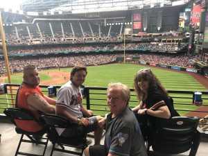 Deborah attended Arizona Diamondbacks vs. Atlanta Braves - MLB on May 12th 2019 via VetTix