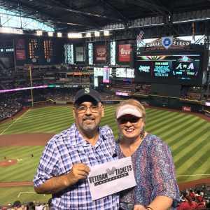 Dennis M attended Arizona Diamondbacks vs. Atlanta Braves - MLB on May 12th 2019 via VetTix