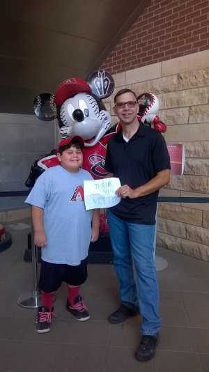 Gregory attended Arizona Diamondbacks vs. Atlanta Braves - MLB on May 12th 2019 via VetTix