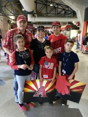 Jared attended Arizona Diamondbacks vs. Atlanta Braves - MLB on May 12th 2019 via VetTix