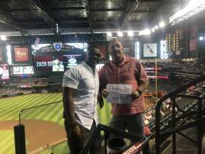 Donald attended Arizona Diamondbacks vs. Atlanta Braves - MLB on May 12th 2019 via VetTix