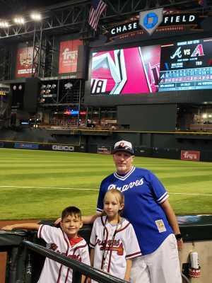Melissa attended Arizona Diamondbacks vs. Atlanta Braves - MLB on May 12th 2019 via VetTix