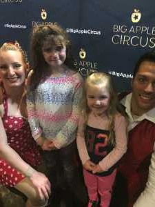 matthew attended Big Apple Circus - Circus in the Round! - Circus on Apr 26th 2019 via VetTix