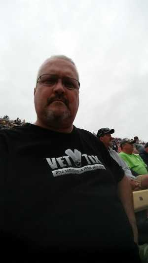 Jerald attended Firekeepers Casino 400 - Monster Energy NASCAR Cup Series on Jun 9th 2019 via VetTix