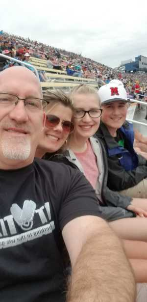 Greg attended Firekeepers Casino 400 - Monster Energy NASCAR Cup Series on Jun 9th 2019 via VetTix