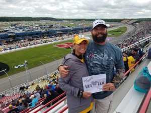 Joel  attended Firekeepers Casino 400 - Monster Energy NASCAR Cup Series on Jun 9th 2019 via VetTix