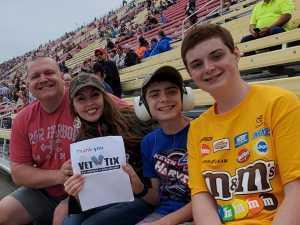 Adam attended Firekeepers Casino 400 - Monster Energy NASCAR Cup Series on Jun 9th 2019 via VetTix