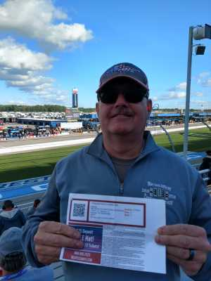 Kevin attended Firekeepers Casino 400 - Monster Energy NASCAR Cup Series on Jun 9th 2019 via VetTix