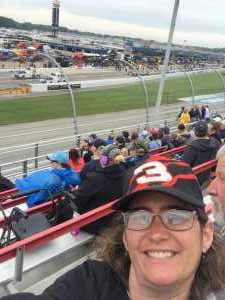 Kim attended Firekeepers Casino 400 - Monster Energy NASCAR Cup Series on Jun 9th 2019 via VetTix