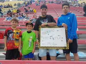 Compton Family attended Firekeepers Casino 400 - Monster Energy NASCAR Cup Series on Jun 9th 2019 via VetTix