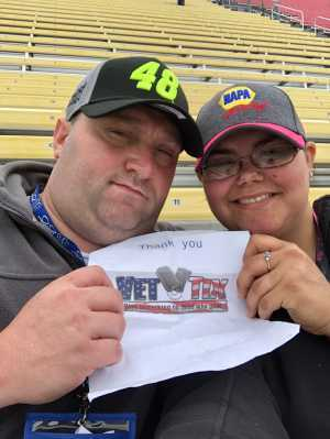 William attended Firekeepers Casino 400 - Monster Energy NASCAR Cup Series on Jun 9th 2019 via VetTix