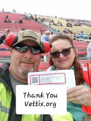 James attended Firekeepers Casino 400 - Monster Energy NASCAR Cup Series on Jun 9th 2019 via VetTix