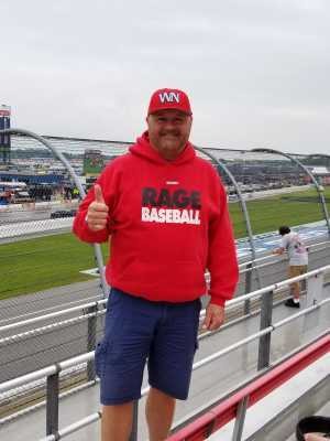 Marcus attended Firekeepers Casino 400 - Monster Energy NASCAR Cup Series on Jun 9th 2019 via VetTix