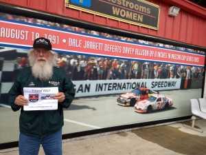 Hubert attended Firekeepers Casino 400 - Monster Energy NASCAR Cup Series on Jun 9th 2019 via VetTix
