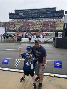 J.D. attended Firekeepers Casino 400 - Monster Energy NASCAR Cup Series on Jun 9th 2019 via VetTix
