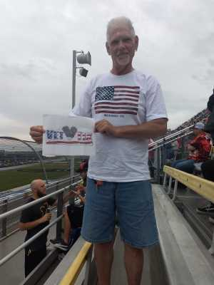 Mark attended Firekeepers Casino 400 - Monster Energy NASCAR Cup Series on Jun 9th 2019 via VetTix