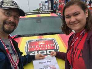 Phil attended Firekeepers Casino 400 - Monster Energy NASCAR Cup Series on Jun 9th 2019 via VetTix
