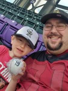Geoffrey attended Colorado Rockies vs. Arizona Diamondbacks - MLB on May 3rd 2019 via VetTix