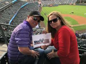 Chadwick attended Colorado Rockies vs. Arizona Diamondbacks - MLB on May 3rd 2019 via VetTix