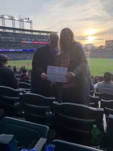 Mindy attended Colorado Rockies vs. San Diego Padres - MLB on May 10th 2019 via VetTix