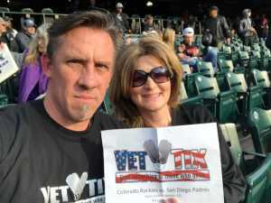 Scott attended Colorado Rockies vs. San Diego Padres - MLB on May 10th 2019 via VetTix