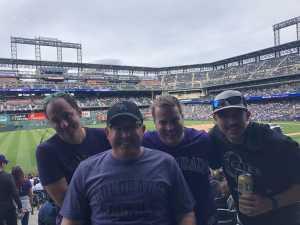 Drew attended Colorado Rockies vs. Arizona Diamondbacks - MLB on May 29th 2019 via VetTix