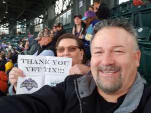 Dean attended Colorado Rockies vs. Arizona Diamondbacks - MLB on May 29th 2019 via VetTix