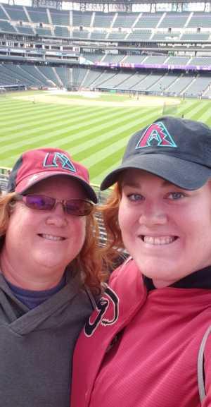 Kristina attended Colorado Rockies vs. Arizona Diamondbacks - MLB on May 29th 2019 via VetTix