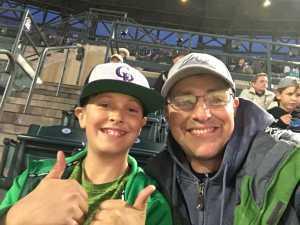 Ernie attended Colorado Rockies vs. Arizona Diamondbacks - MLB on May 29th 2019 via VetTix