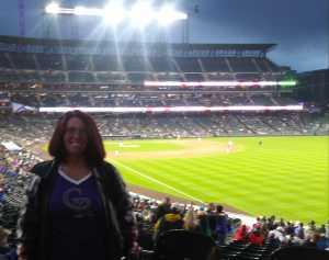 Tina attended Colorado Rockies vs. San Francisco Giants - MLB on May 7th 2019 via VetTix